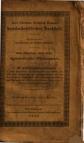 2:*Synthetische philosophie: 2.1 Göttingen