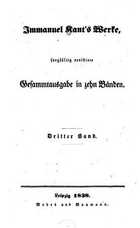 Immanuel Kant s Werke  Kleinere metaphysische Schriften PDF