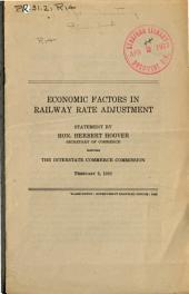 Economic Factors in Railway Rate Adjustment