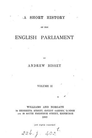 A short history of the English parliament PDF