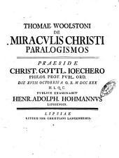 De miraculis Christi paralogismos