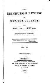 The Edinburgh Review: Volume 4