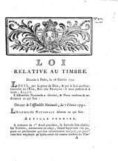 Loi relative au timbre