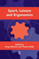 Sport  Leisure and Ergonomics PDF