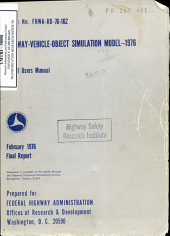 Highway vehicle object Simulation Model   1976  Volume 1  Users Manual  Final Report PDF