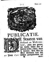 Publicatie: De Staaten van Holland en Westvriesland, allen den geenen die deesen sullen sien