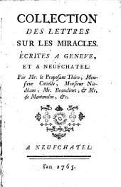Collection des Lettres sur les Miracles, écrites a Genève et a Neufchâtel