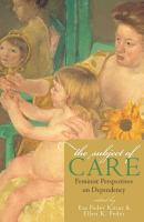 The Subject of Care PDF