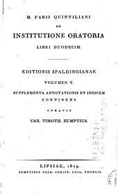 De institutione oratoria libri duodecim: ad codicum veterum fidem, Volume 5