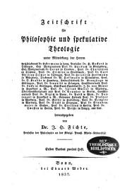 Zeitschrift für Philosophie und spekulative Theologie: Band 4