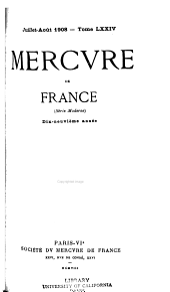 Mercure de France: Volume74