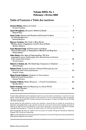 Canadian Philosophical Reviews PDF