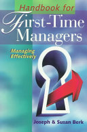 Handbook for First Time Managers