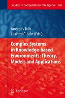 Complex Systems in Knowledge based Environments  Theory  Models and Applications PDF
