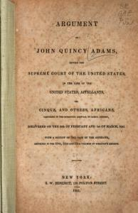 Argument of John Quincy Adams  Before the Supreme Court of the United States Book
