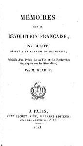 Mémoires sur la révolution française