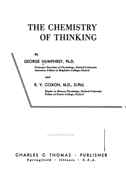 The Chemistry of Thinking PDF