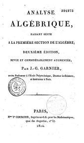Eléments d'algèbre: Volume1