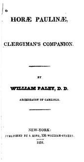 Horæ Paulinæ, Clergyman's Companion