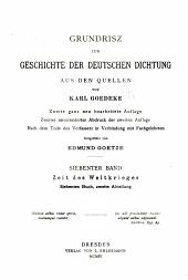 Grundrisz zur Geschichte der deutschen Dichtung aus den Quellen: v