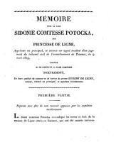 Mémoire pour la dame Sidonie comtesse Potocka, née princesse de Ligne, ...
