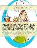 Professional Waiter   Waitress Training Manual With 101 SOP PDF