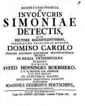 Dissertatio Iuridica De Involucris Simoniae Detectis