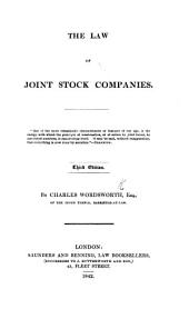 The Law of Joint Stock Companies. Third Edition