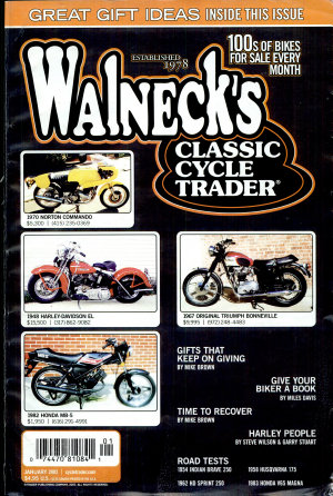 WALNECK S CLASSIC CYCLE TRADER  JANUARY 2003 PDF