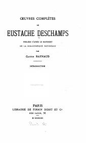 Œuvres complètes de Eustache Deschamps: Le miroir de mariage