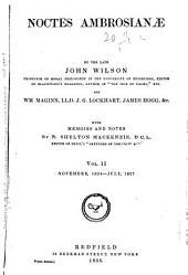 Noctes Ambrosianæ: Volume 2
