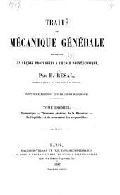 Traité de mécanique générale: Cinématique