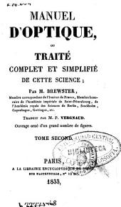 Manuel d'optique ou Traité complet et simplifié de cette science: (V, 289 p., 5 h. de lám. pleg.)