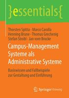 Campus Management Systeme als Administrative Systeme PDF