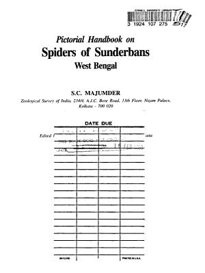 Pictorial Handbook on Spiders of Sunderbans  West Bengal PDF