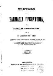 Tratado de Farmacia operatoria    sea Farmacia esperimental PDF