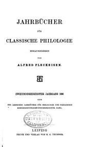 Neue Jahrbücher für Philologie und Paedagogik: Band 133