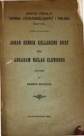 Johan Henrik Kellgrens bref till Abraham Niclas Clewberg
