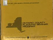 Chenango  Delaware  Etc   County Planning Seminar Program PDF