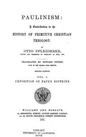 Exposition of Paul's doctrine