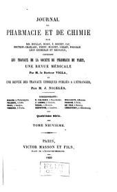 Journal de pharmacie et de chimie: Volume9;Volume1869