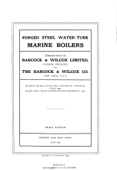 Forged Steel Water-tube Marine Boilers Manufactured by Babcock & Wilcox Limited, London, ... & The Babcock & Wilcox Co., New York