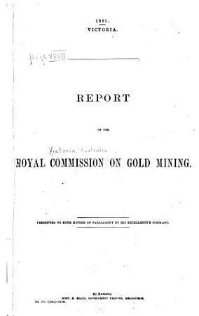Report of the Royal Commission on Gold Mining PDF