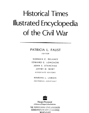Historical Times Illustrated Encyclopedia of the Civil War PDF