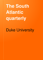 The South Atlantic Quarterly: Volume 7