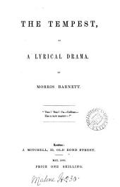 The Tempest [by W. Shakespeare] as a lyrical drama [with special reference to the libretto by A.E. Scribe to Halévy's opera La Tempesta].