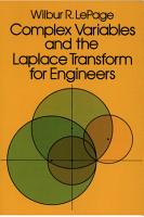 Complex Variables and the Laplace Transform for Engineers PDF