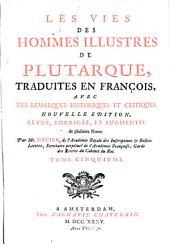 Les vies des hommes illustres de Plutarque,