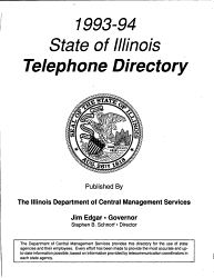 State Of Illinois Telephone Directory Book PDF