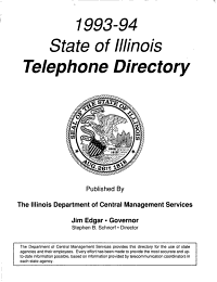 State of Illinois Telephone Directory Book